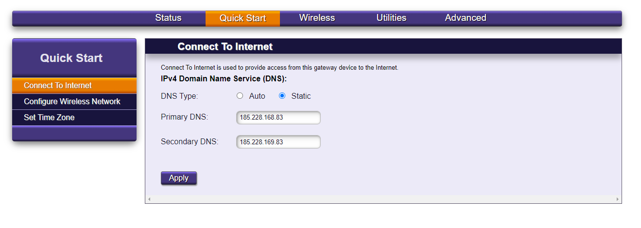 Cleanbrowsing-Calix-DNS